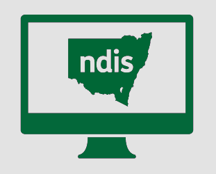 A monitor with New South Wales, with N D I S in it.