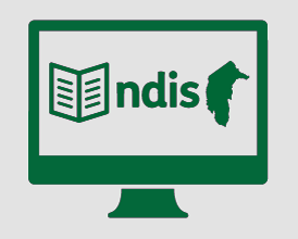 Monitor with booklet, NDIS, and outline of the ACT.