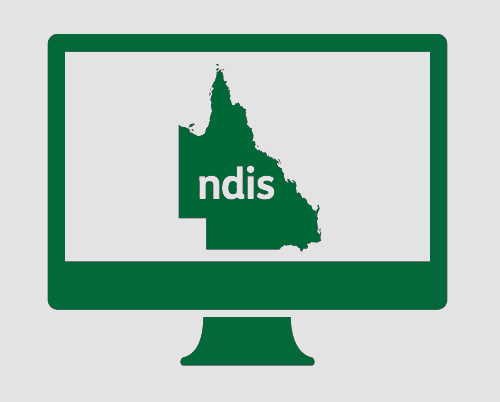 A monitor with Queensland, with N D I S in it.
