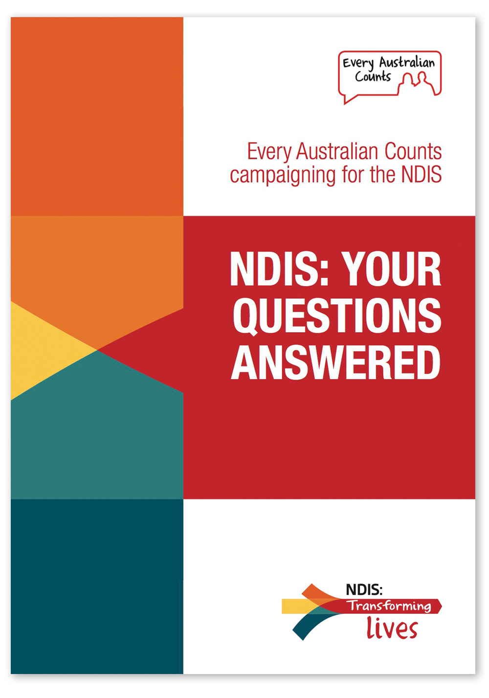 Screenshot of the cover of the NDIS Q&A booklet.