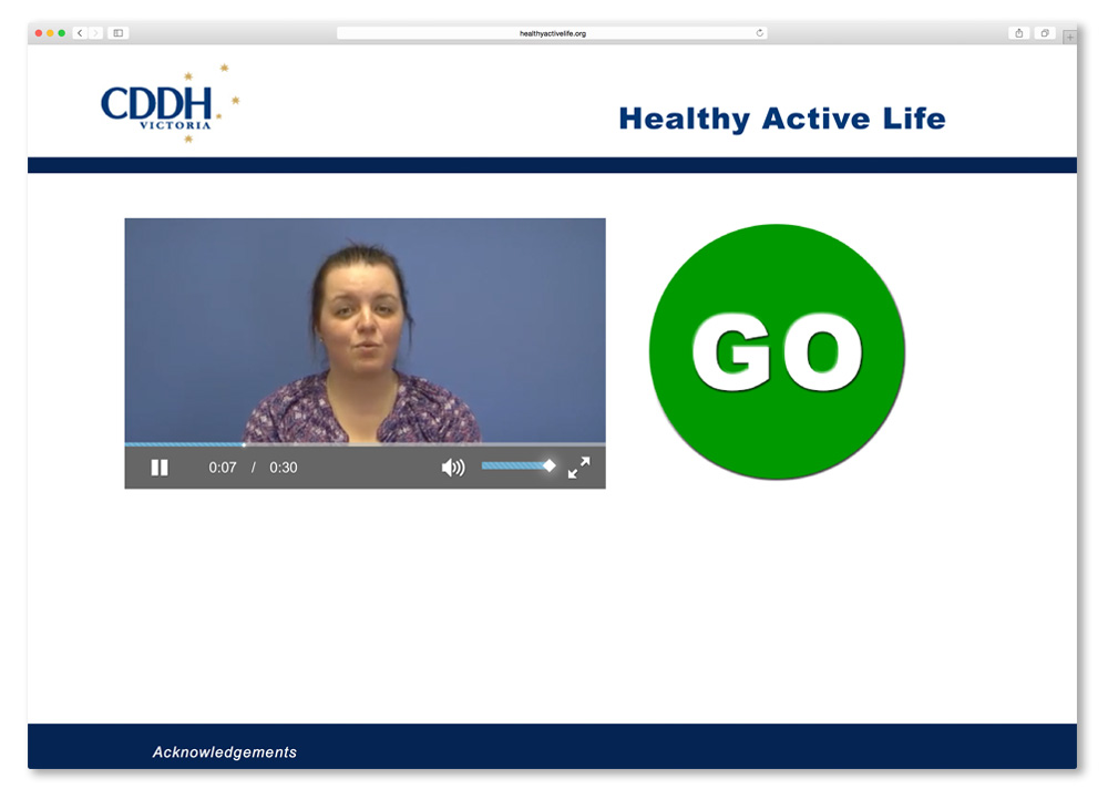 Screenshot of the Healthy Active Life homepage.